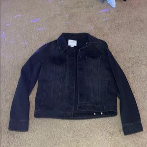 old navy black jean jacket